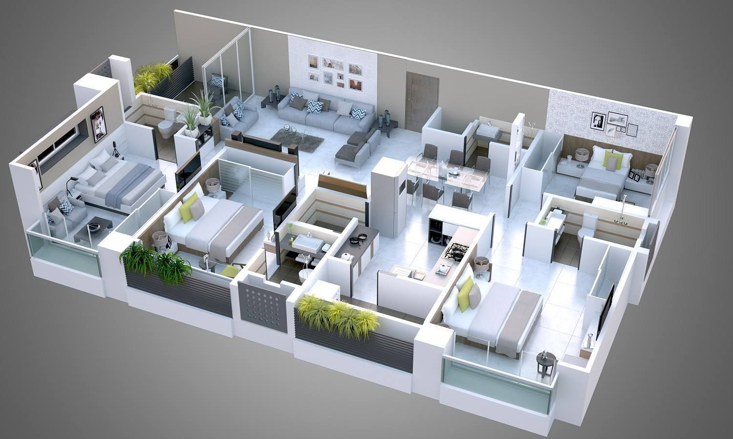 Pin By Triangle Architects On Floor Plan In 2019 3d