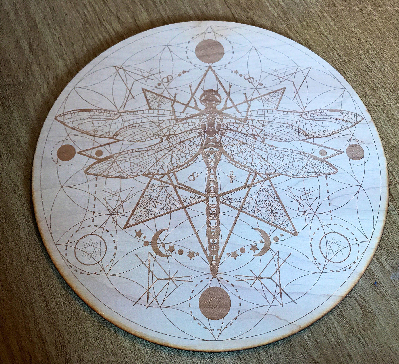 Dragonfly Flower Of Life Crystal Grid Flower Of Life Mandala