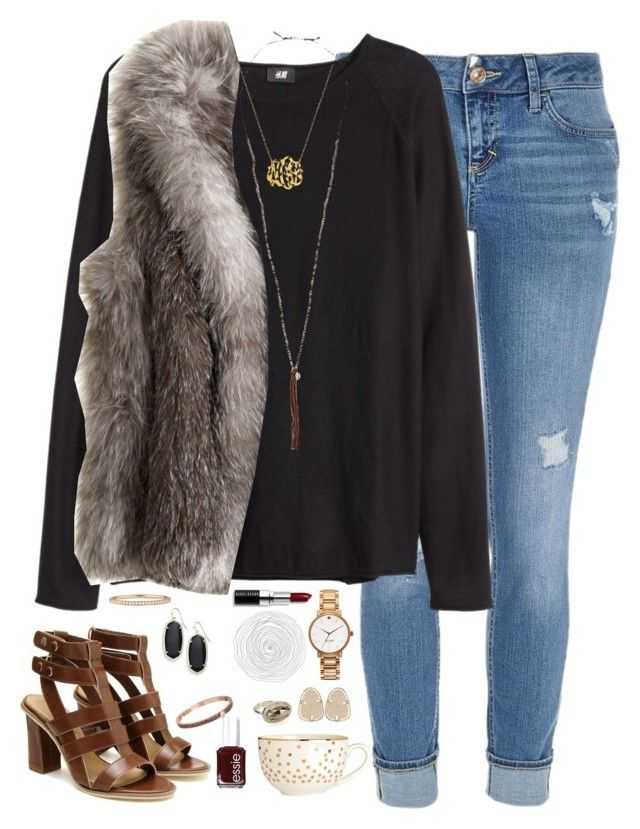 """just the thought of you gets me so high."" by kaley-ii ❤ liked on Polyvore featuring River Island, H&M, Calypso St. Barth, Chan Luu, Kate Spade, Bobbi Brown Cosmetics, Kendra Scott, Essie and Mattia Cielo"