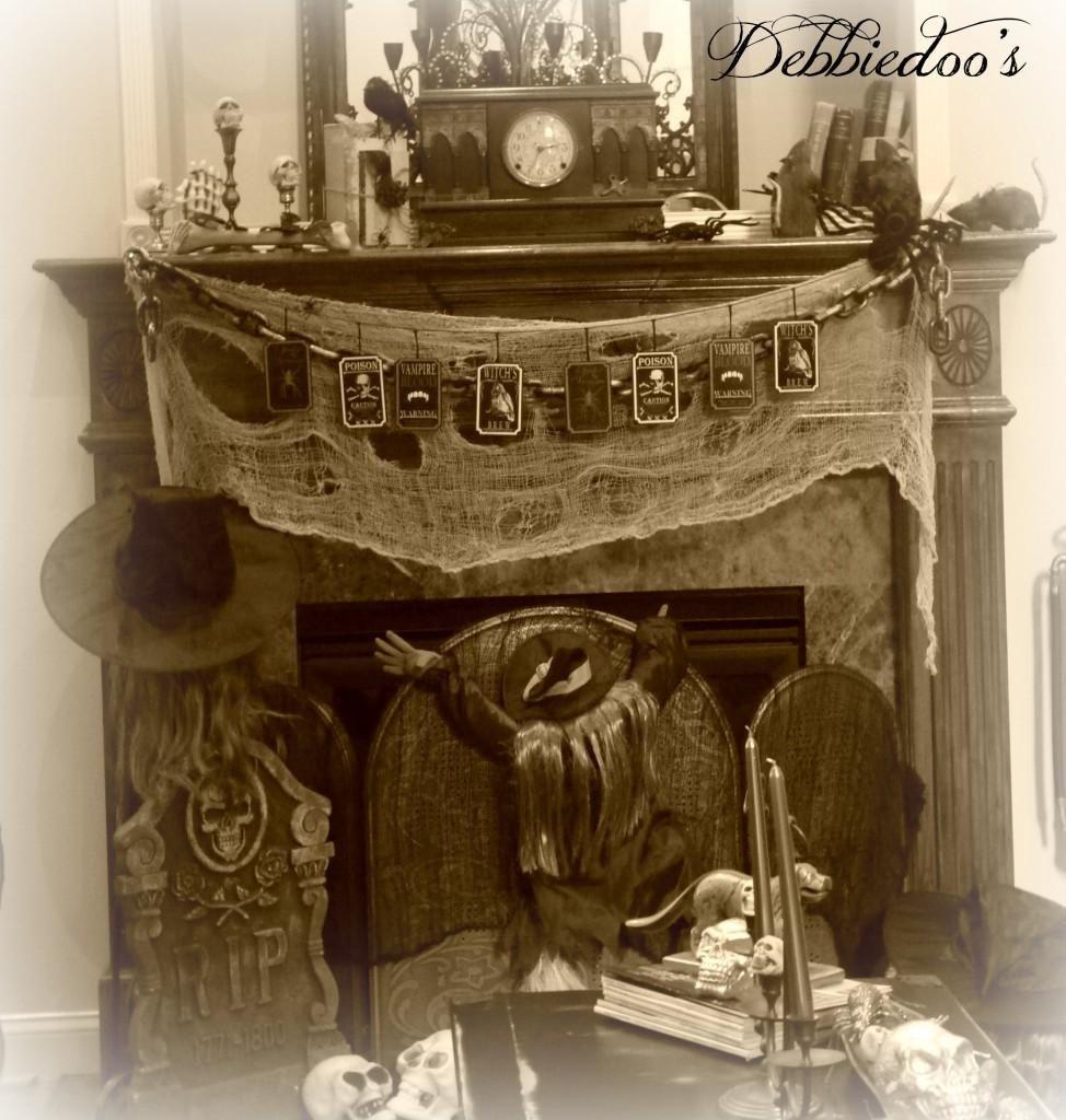 Mantel Decorations  IDEAS  INSPIRATIONS  Spooky, Gothic Halloween - halloween house decoration ideas