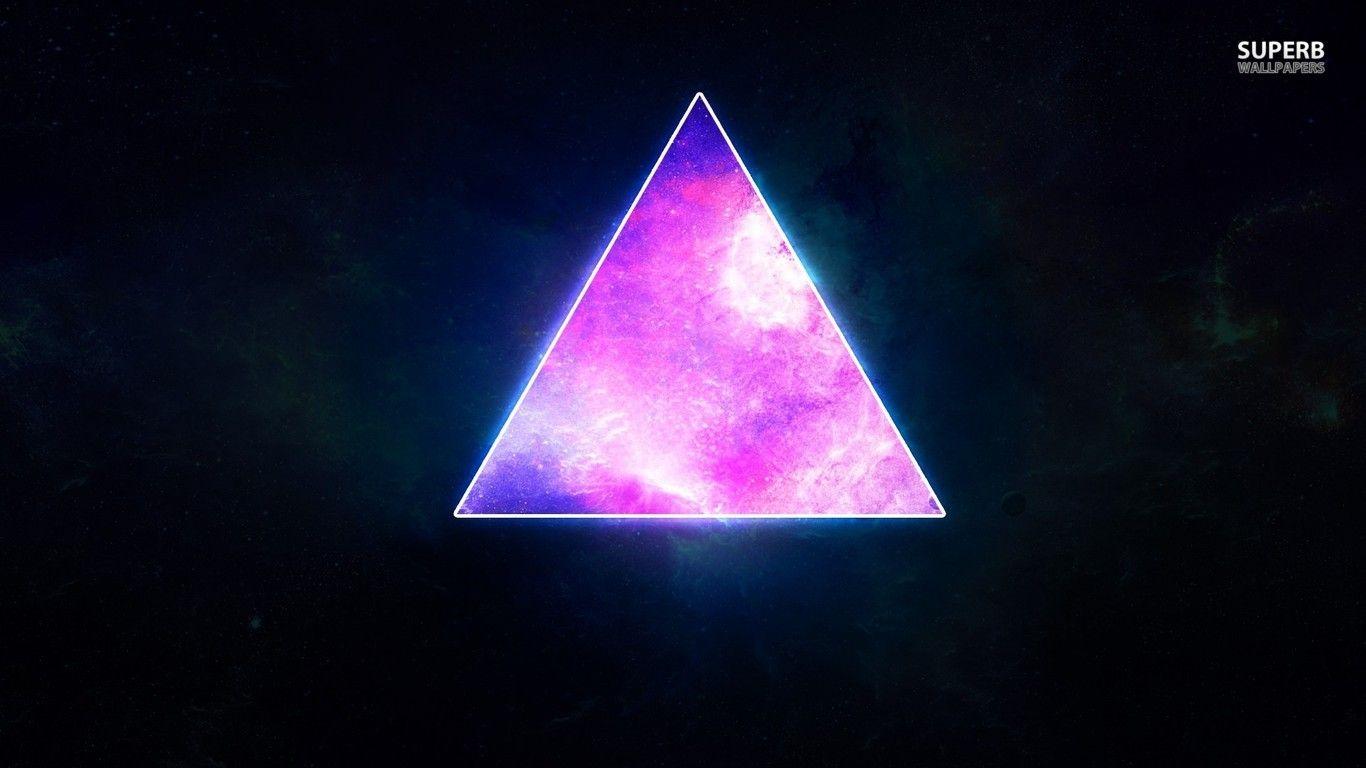 Cosmic Triangle Wallpaper Images Illuminati Art Purple