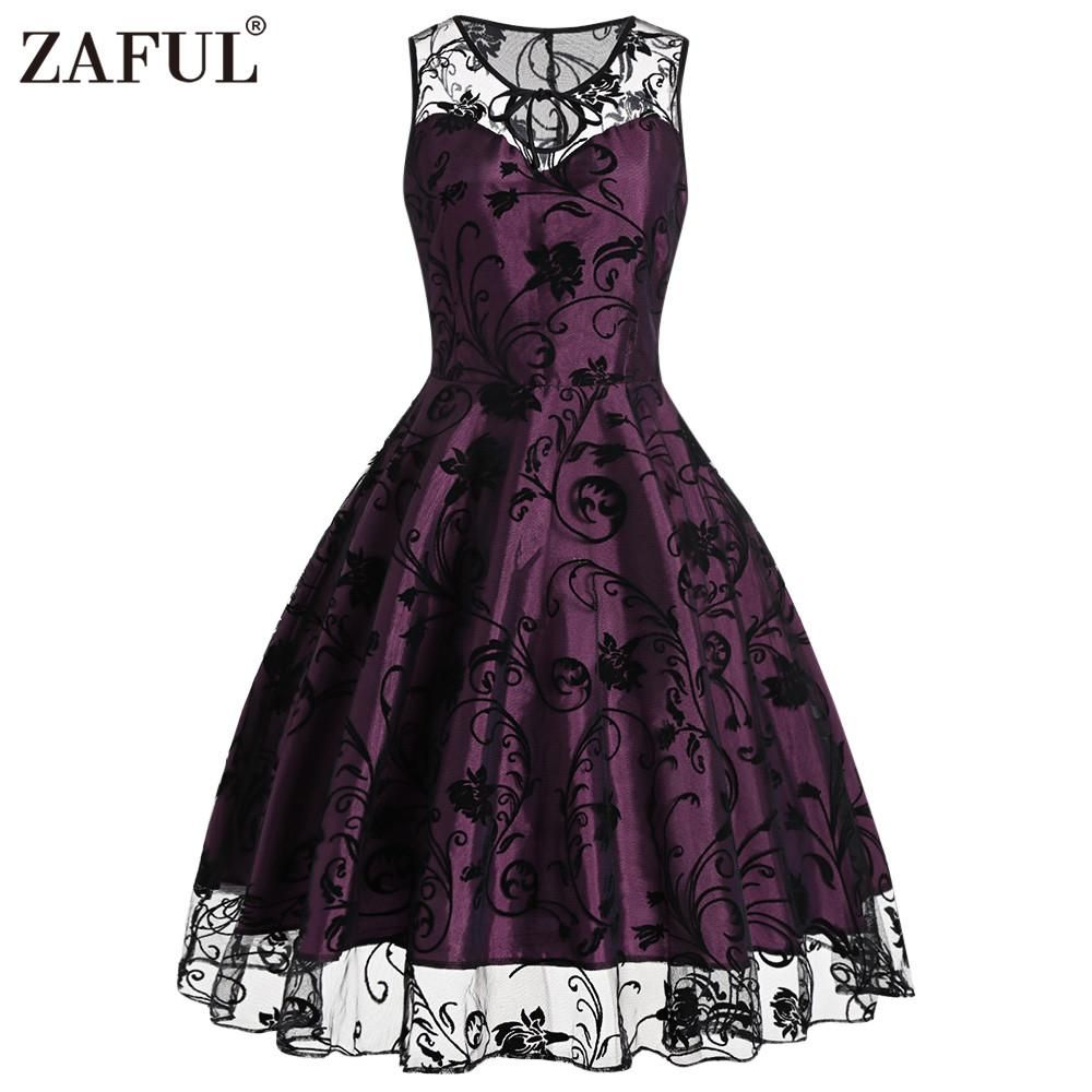 Zaful vintage retro women midi dress in products pinterest