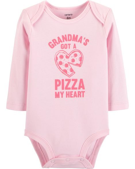 Grandma Pizza Collectible Bodysuit is part of Baby Clothes Grandma -  Grandma Pizza Collectible Bodysuit from Carters com  Shop clothing & accessories from a trusted name in kids, toddlers, and baby clothes