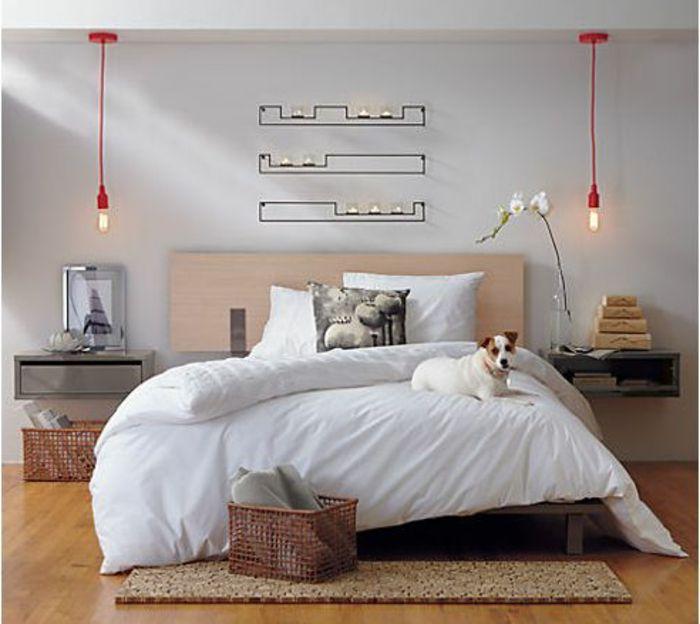 nachttisch zum einhangen nachtisch grau zwei hangelampe traumhaftes schlafzimmer pinterest nachttische und wohnideen ikea