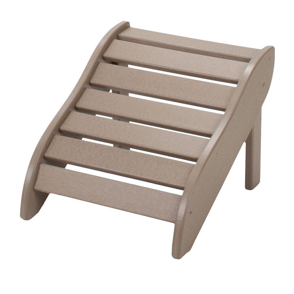 Admirable Weatherwood Wooden Foot Rest Weatherwood Brown Size Lamtechconsult Wood Chair Design Ideas Lamtechconsultcom
