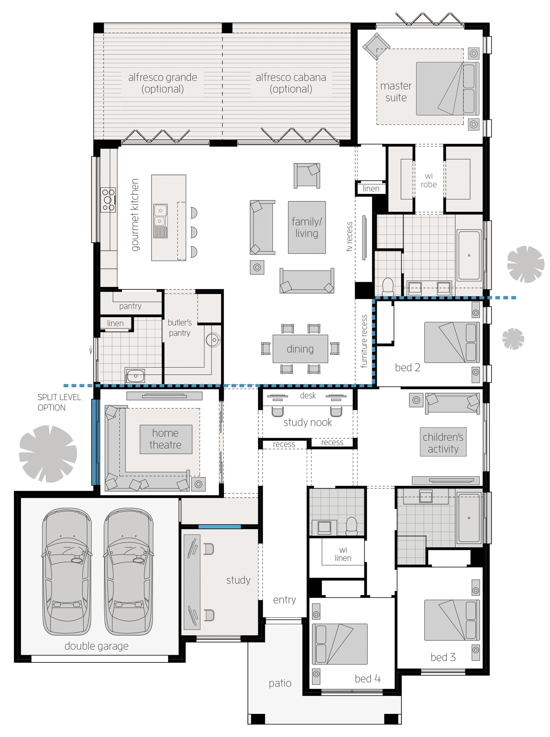 Miami Executive 16 Upgrades Floor Plan Dream House Plans My House Plans New House Plans