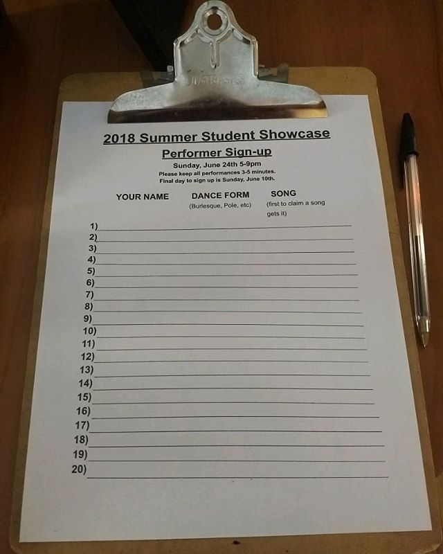 The sign up sheet is far more full than it was when it was posted - student sign in sheet