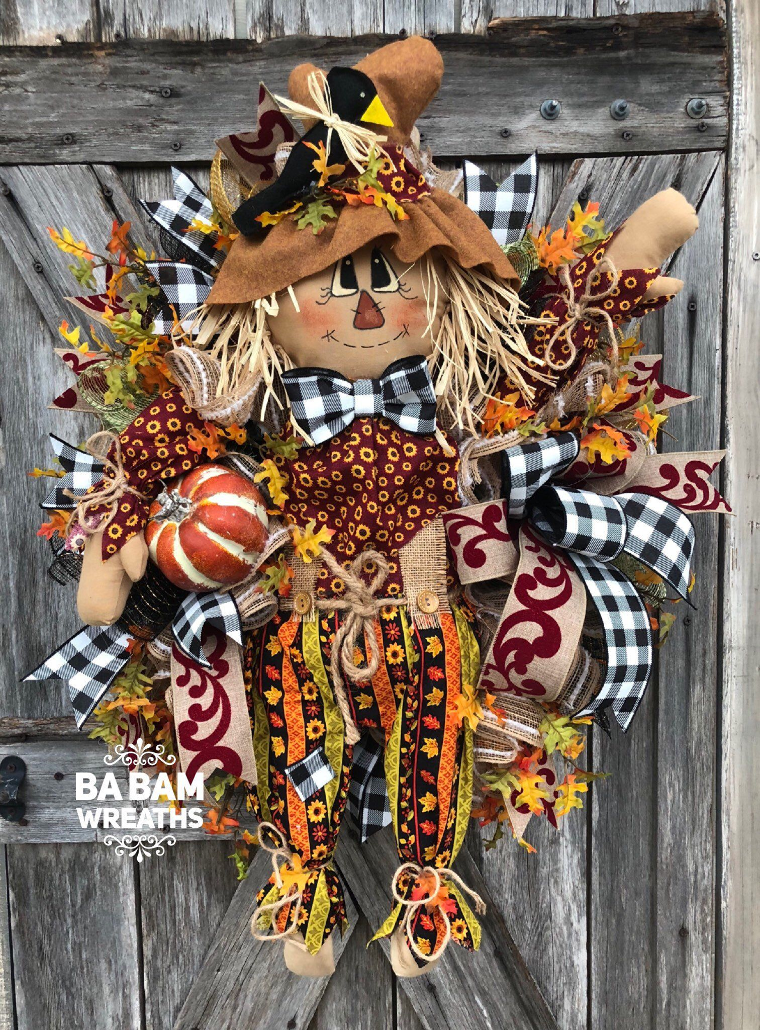Your place to buy and sell all things handmade #scarecrowwreath