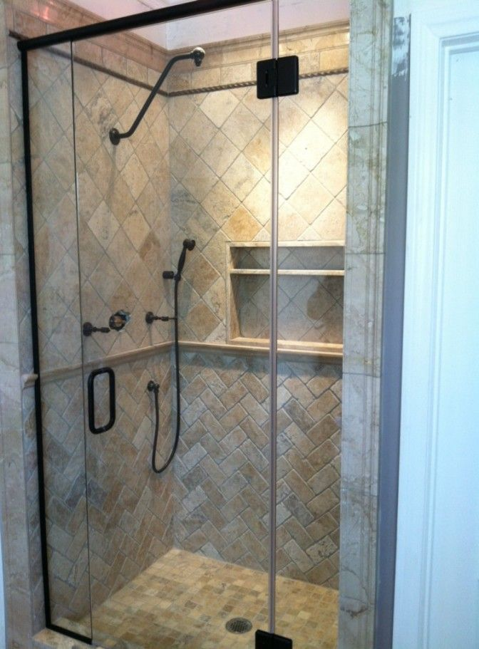 Oil Rubbed Bronze Frameless Pivot Shower Doors With Images