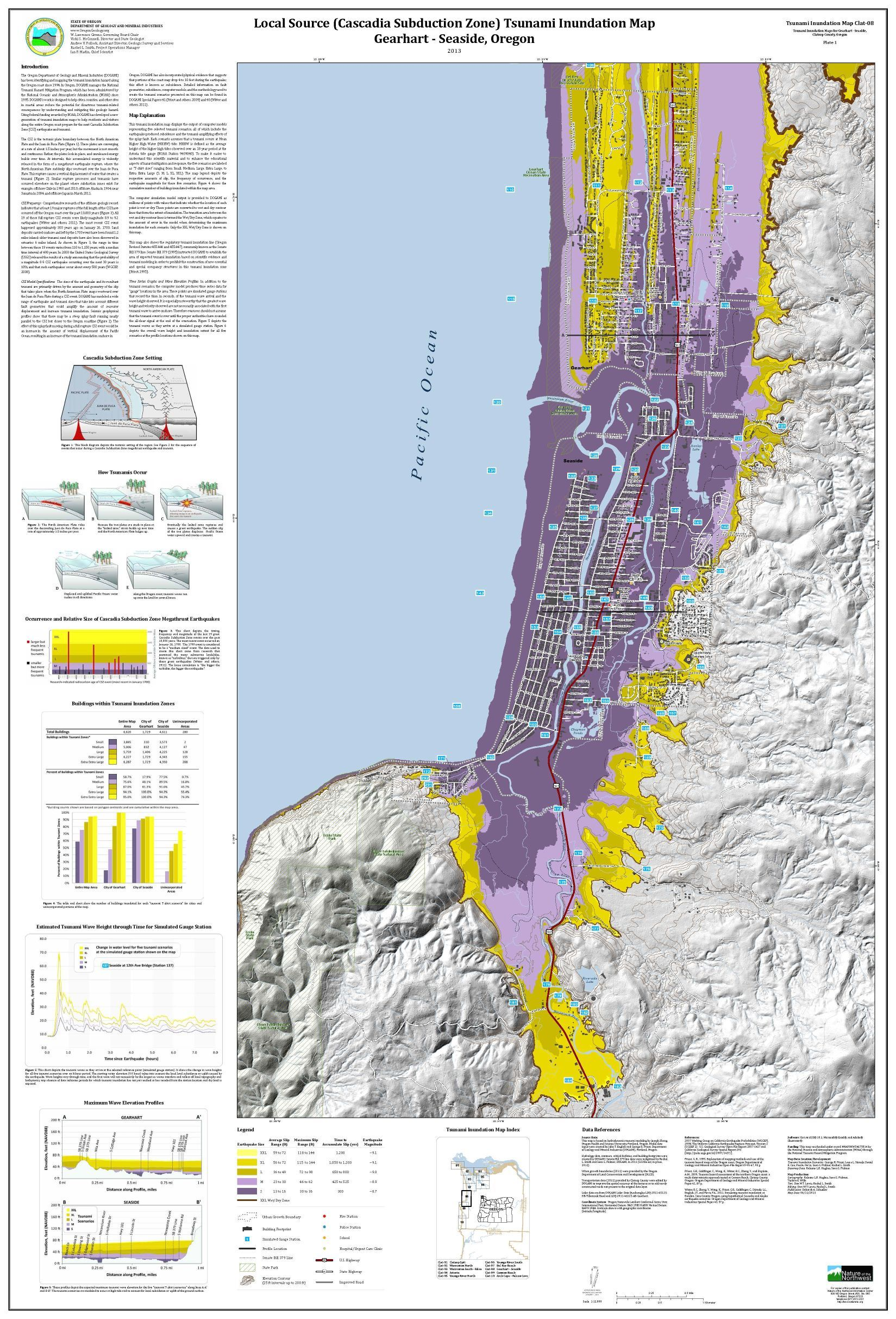 Tsunami inundation maps for Gearhart - Seaside, Clatsop County ... on