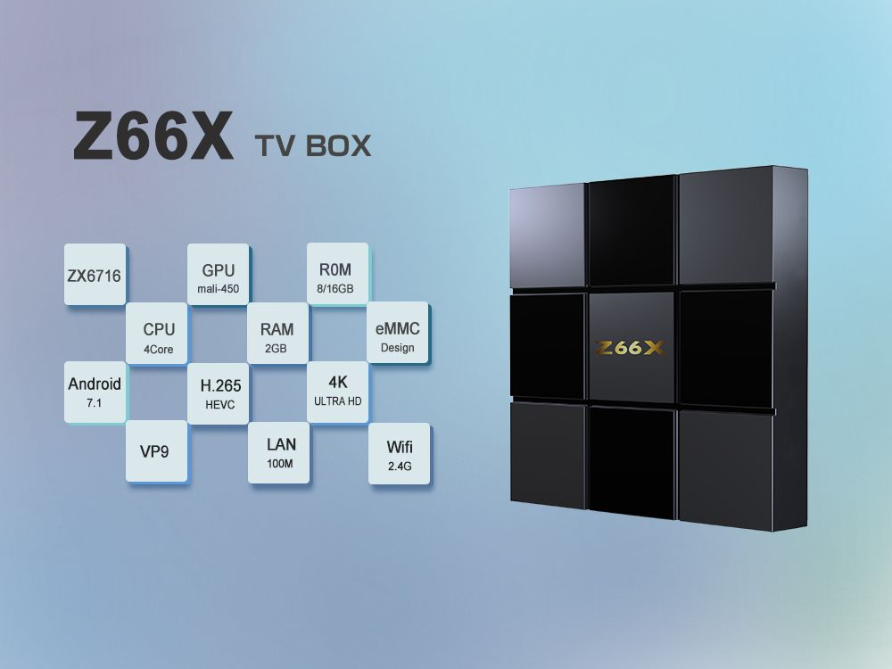 Chinese Popular Brand ZTE ZX296716 Android 7.1 TV Box with ...