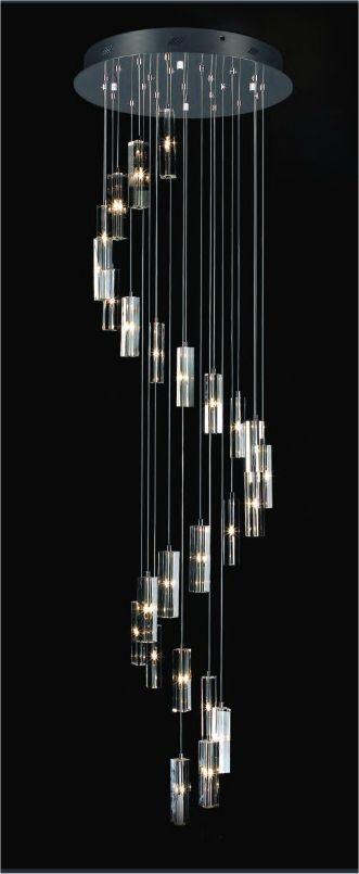 Long Drop 25 Light Glass Amp Chrome Pendant Pendant