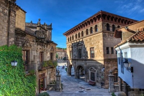 Visa desde las Granda de Santiago al Poble Espanyol in Barcelona #restaurantlafontdeprades