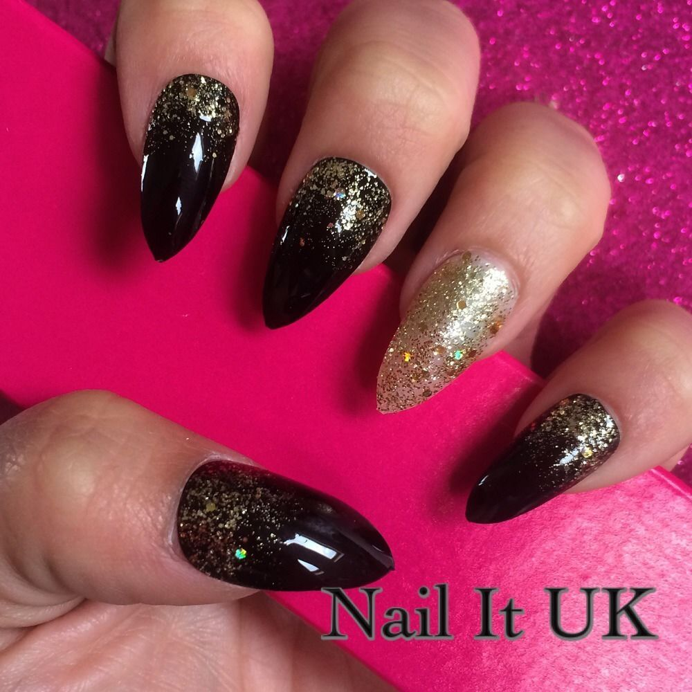 Christmas False Nails Uk: Details About Hand Painted Full Cover False Nails