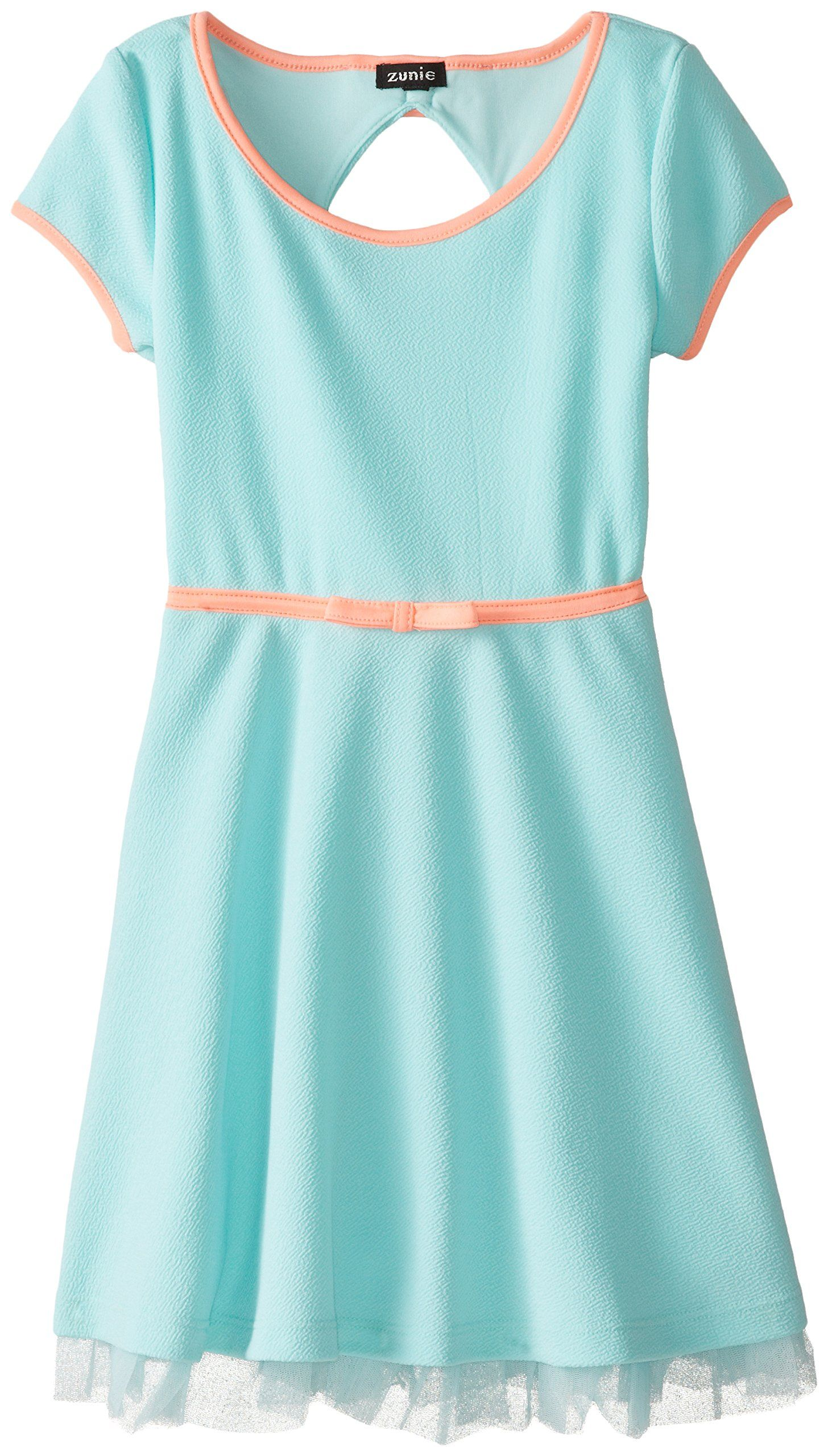 96c03824776c Zunie Big Girls' Texture Knit Skater Dress, Aqua, 8 | Style ...