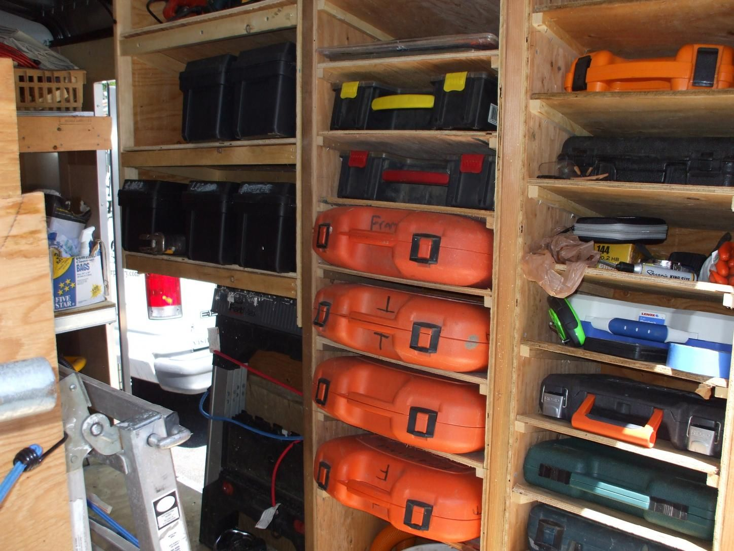 Contractor tool trailer setup trailer customizing ideas for Shelving and storage ideas