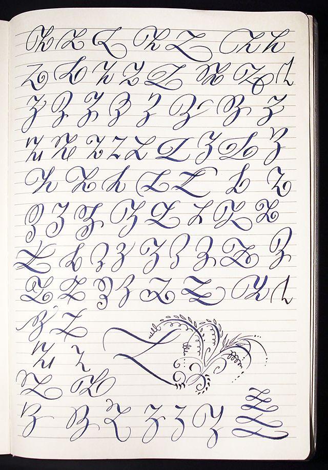 Majuscule Z Variants By Polish Calligrapher Barbara Galinska On Behance