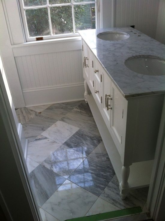 Diamond Pattern For 12x12 Maybe Better In Smaller Square For Smaller Marble Bathroom Floor Marble Tile Bathroom White Marble Bathrooms