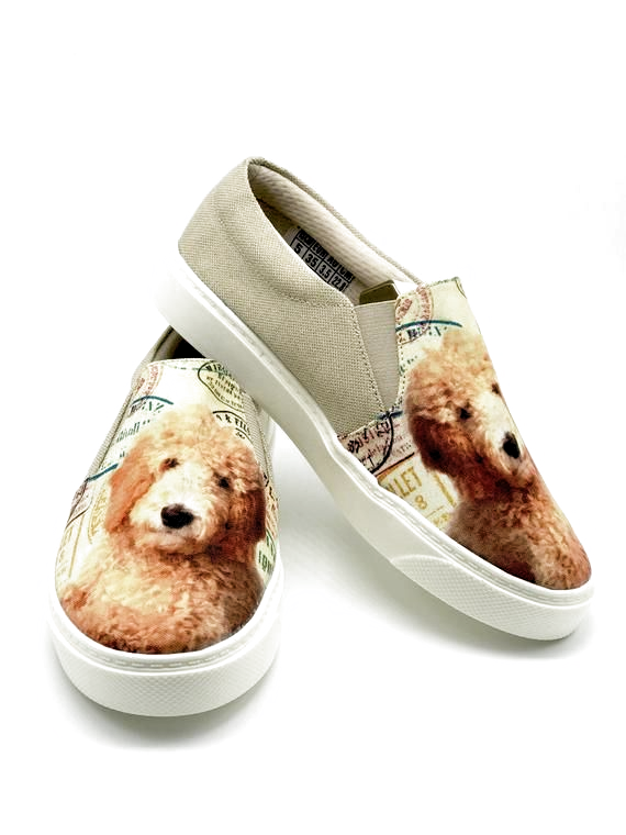 Doodle Shoes Shoes For Women Dog Lovers Puppies Slip Ons Pet Lovers Labradoodle Woman Shoes In 2020 Doodle Shoes Women Shoes Dog Lovers