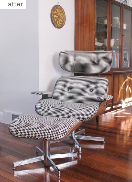 Before & After: Eames Recliner Replica Gets Reupholstered