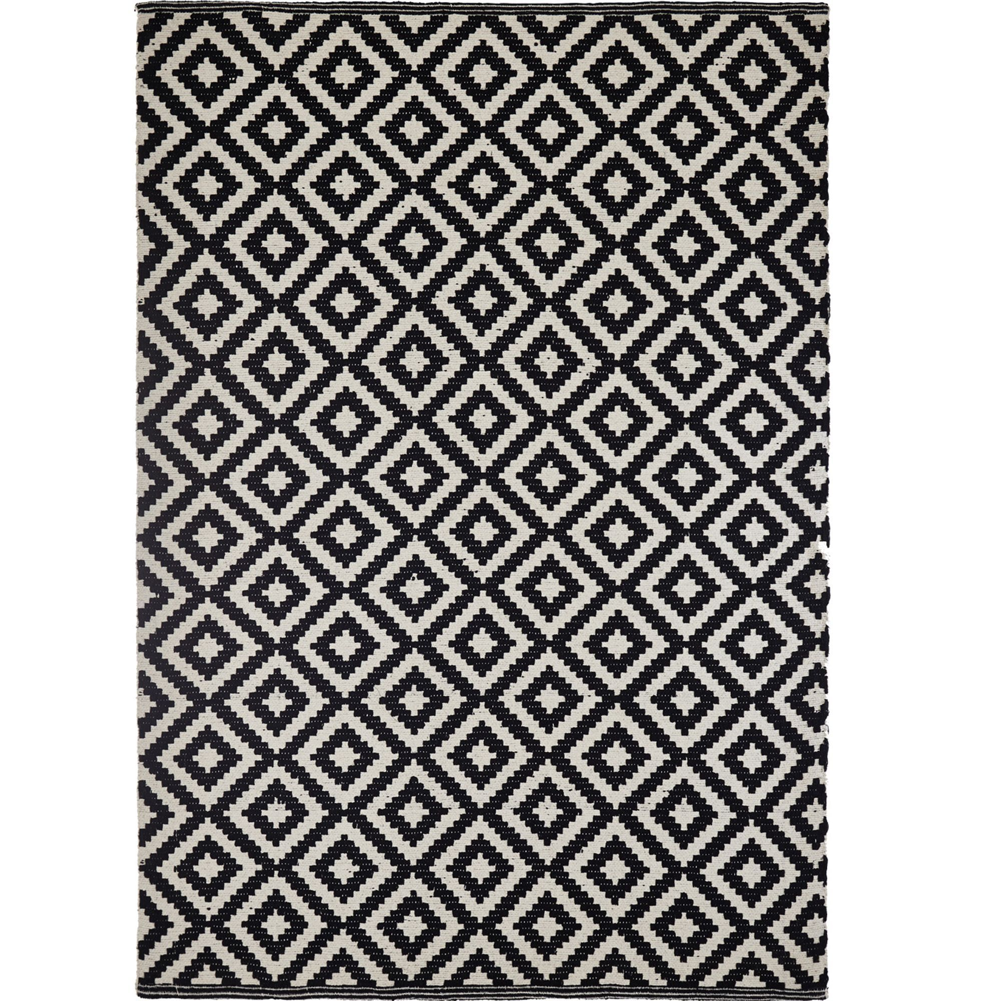 Colours harrietta black white geometric rug l230cm w160cm departments diy at bq