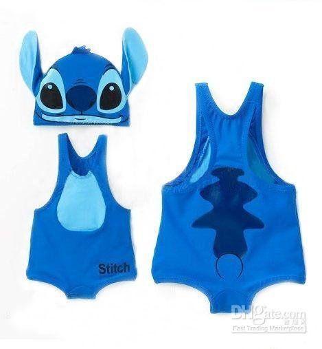 10cf5f3fbb09c Stitch swimsuit with separate swim cap hot baby boys swimwear Nissen kids  Lilo on AliExpress.com. $378.23