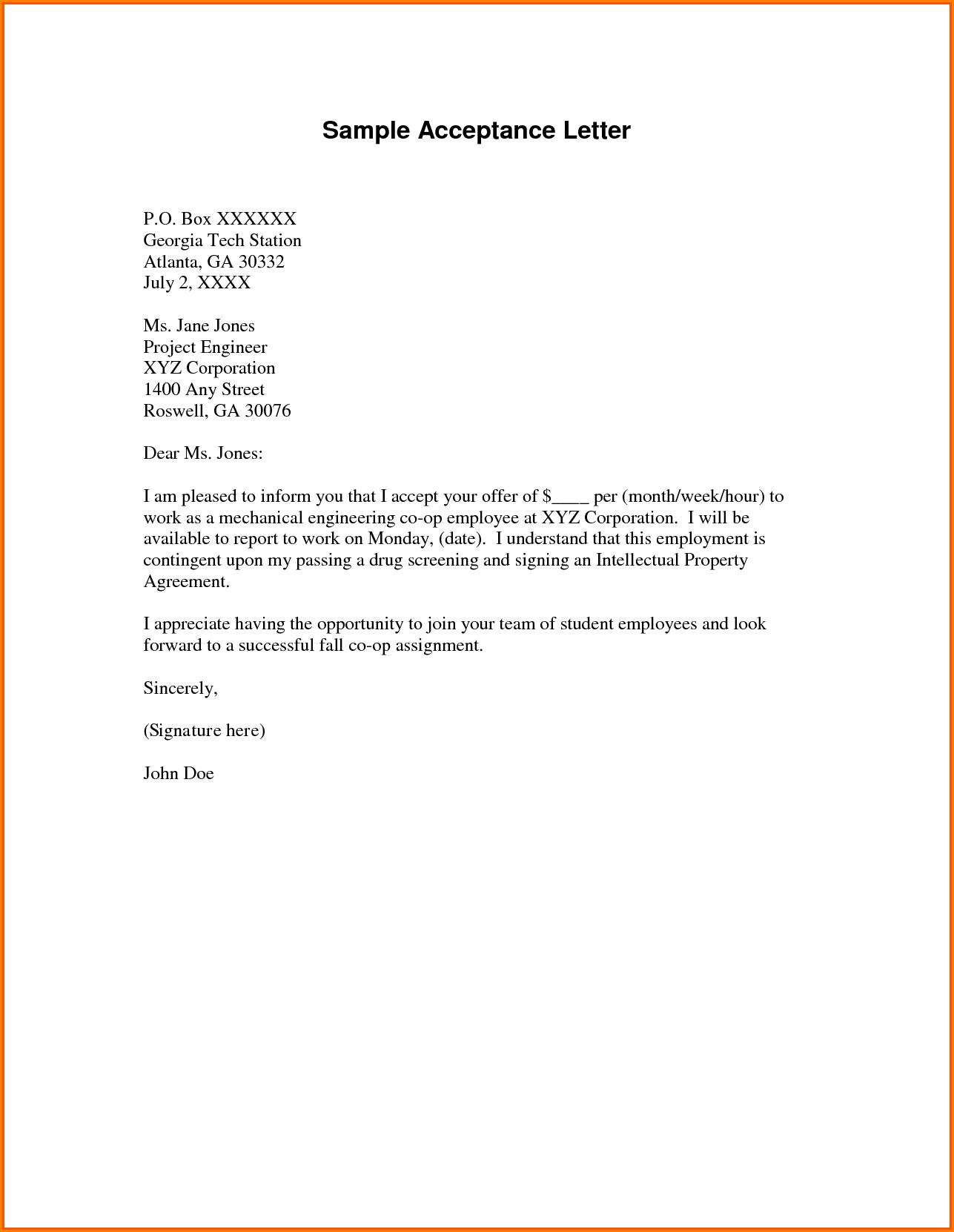 Volunteer Appointment Letter Sample University  Home Design Idea