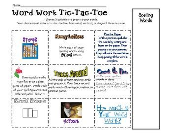 Awesome Cute School Outfits Word Work Tic Tac Toe Work On Words
