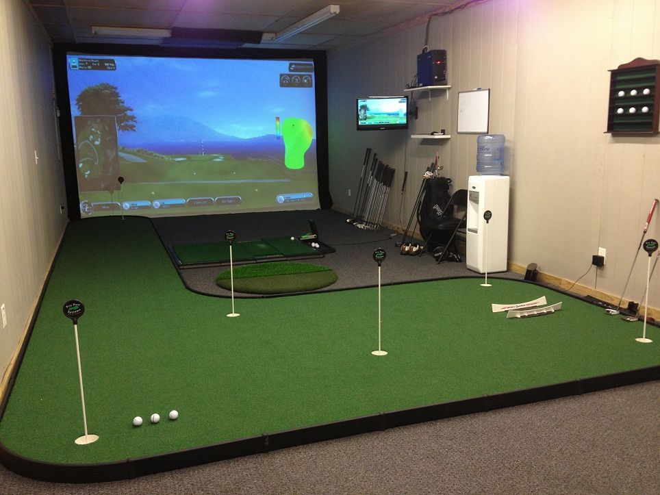 Golf Rooms The Ultimate Addict Man Cave Golf Room Golf Man Cave Golf Simulator Room