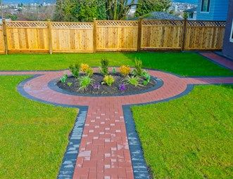 Red Paver Walkway And Path Landscaping Network Calimesa CA