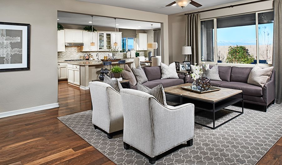 Dominic Lv Great Room Marbella Richmond American Homes Las Vegas Nv Marbella Offers An Inspired Collection Of Sp Home Richmond Homes Great Room Layout