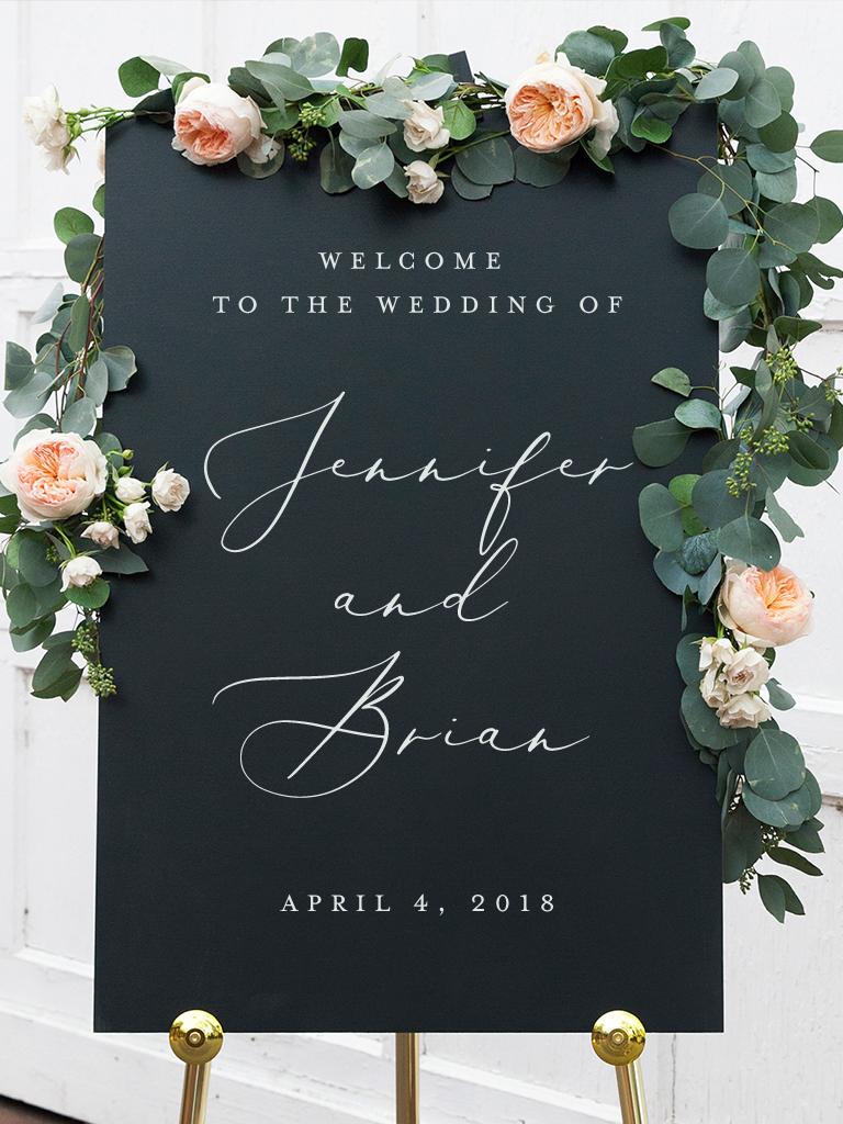 Victoria Wedding Welcome Sign