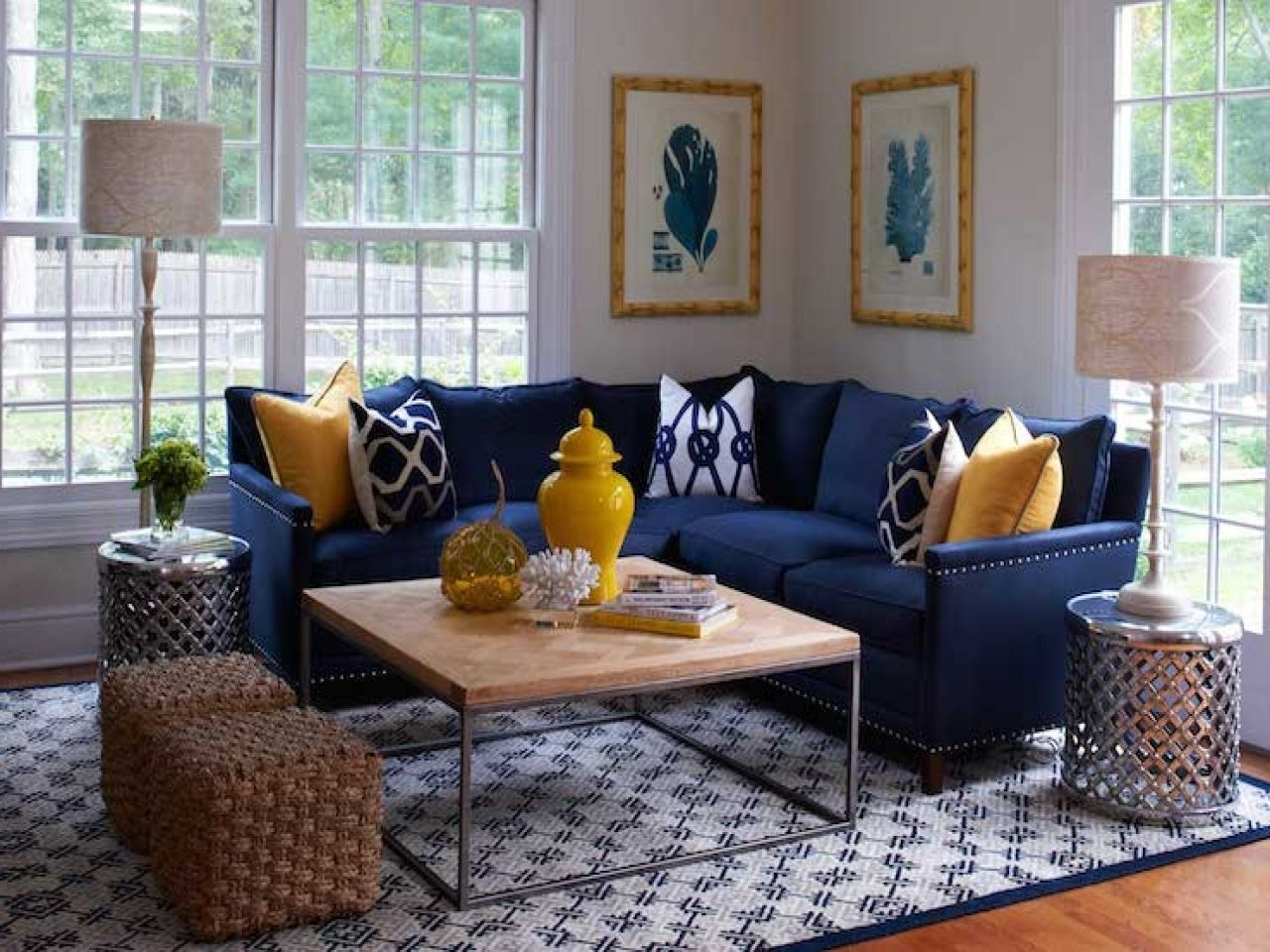 Explore Gallery Of Dark Blue Sofas 3 Of 20 Blue Living Room Decor Blue Sofas Living Room Blue Couch Living