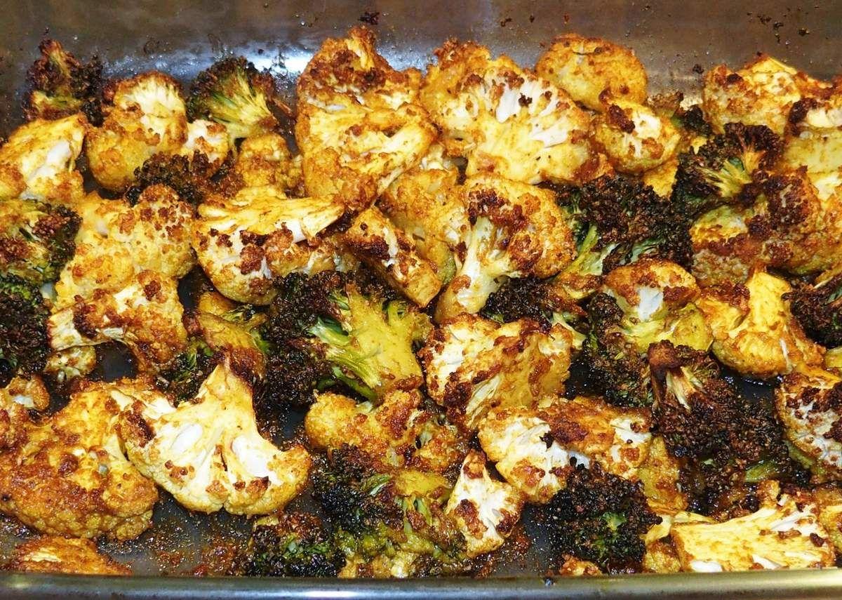 Choux Fleurs Rotis Au Four Les Recettes De Virginie Chou Fleur Roti Au Four Recettes De Cuisine Recette Chou
