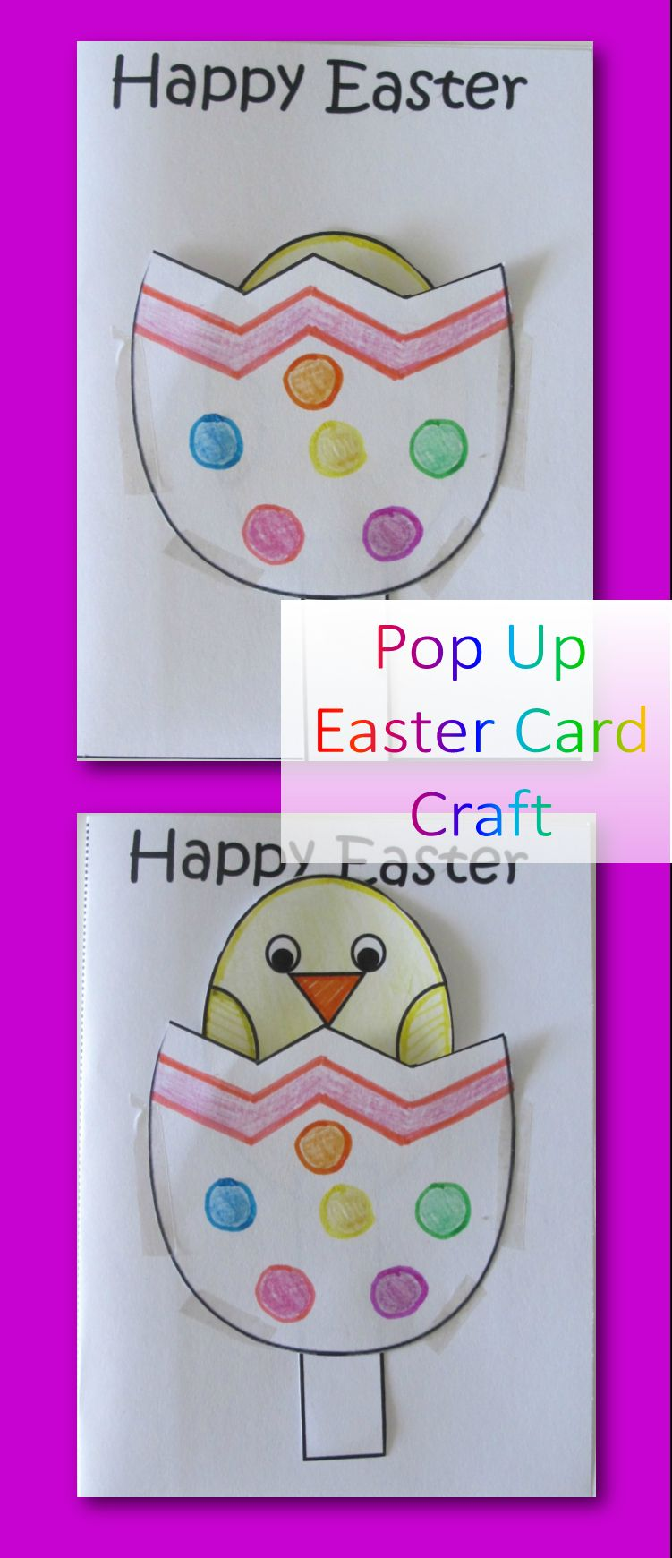 Pop Up Easter Cards Are So Cute And Really Easy To Make With With Easter Card Template Ks2 Best Template Ideas This Moment
