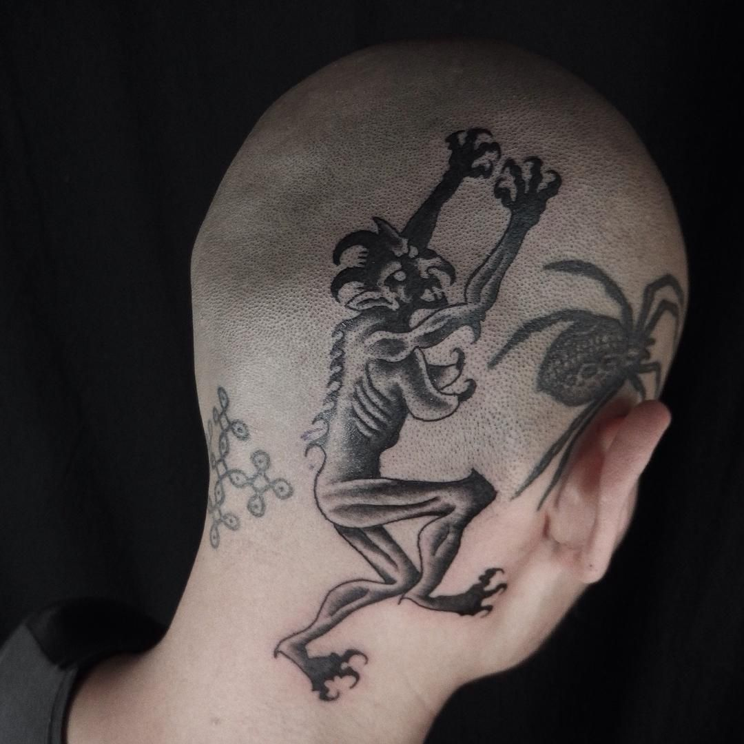 Back of head tattoo head tattoo pinterest head