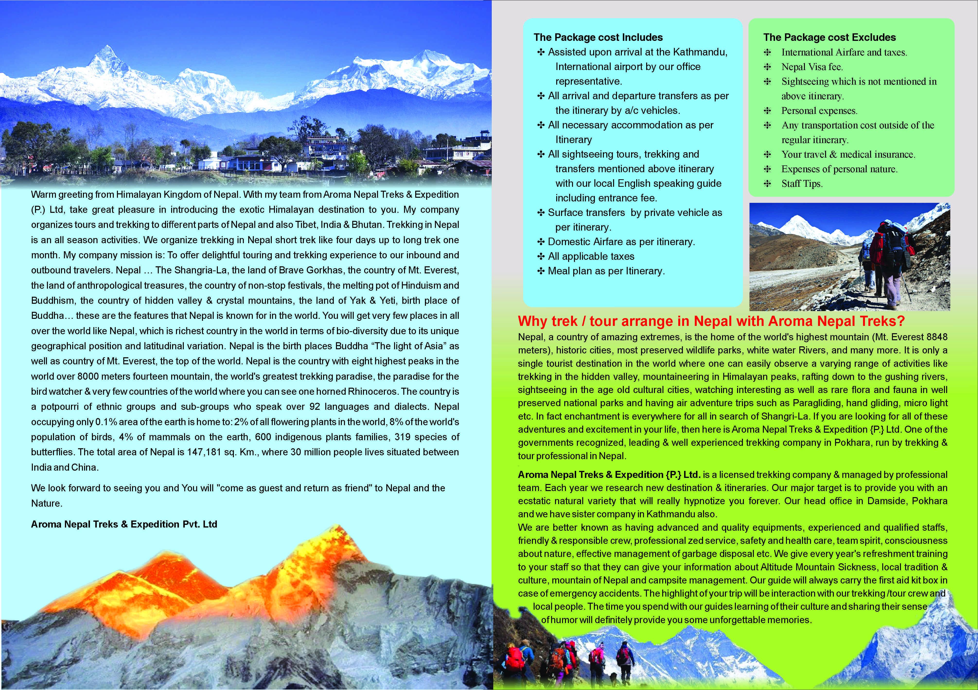 Nepal - Your Next Holidays Destination with Aroma Nepal