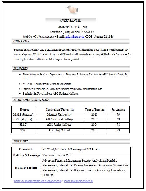 Image Result For C V Design In Microsoft Excel Resume Template
