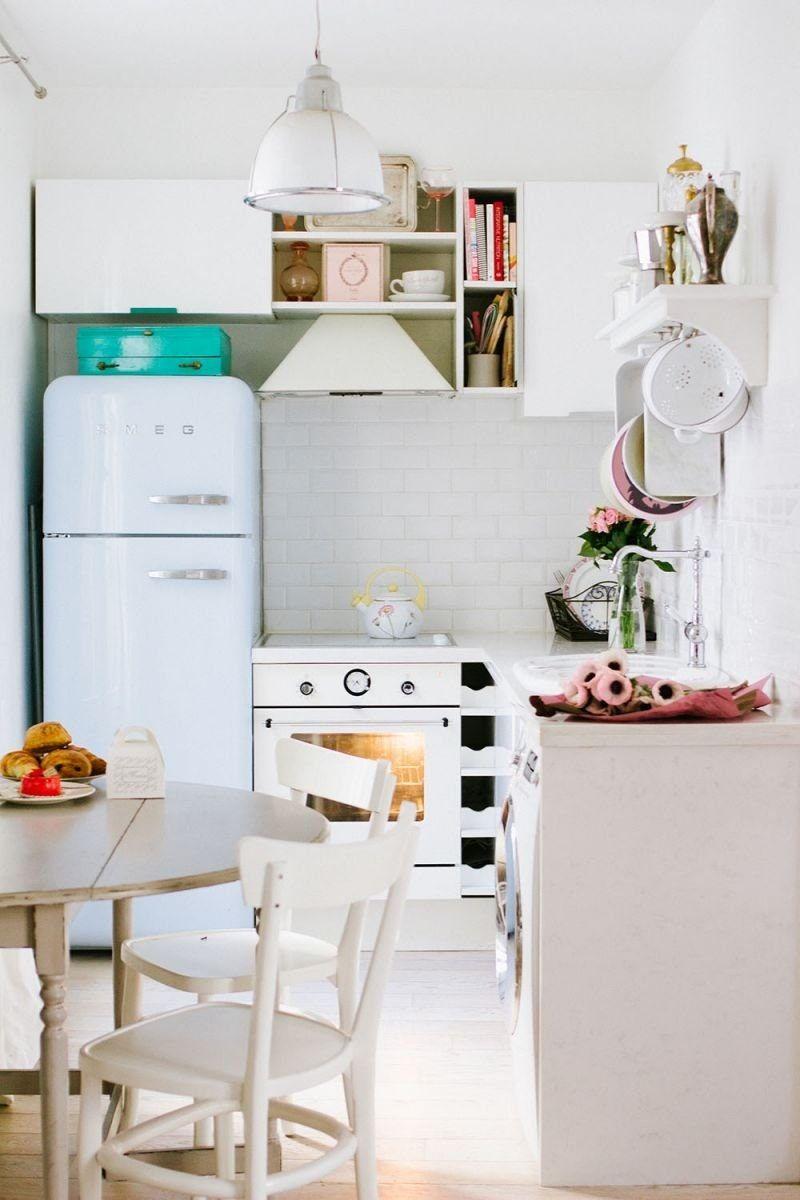 A Tiny Gem of an Apartment in Paris   Paris kitchen, Apartments and ...