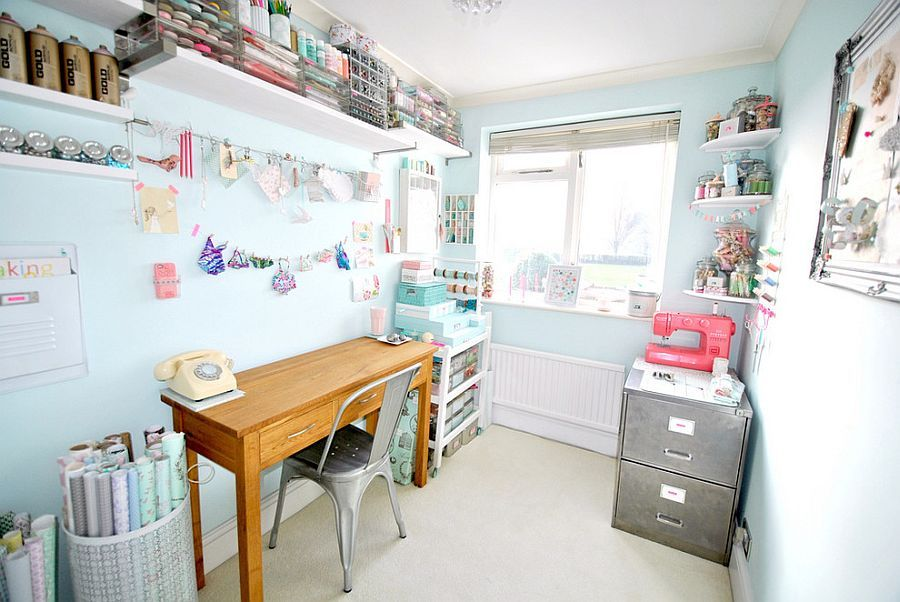 craft room home office design. 30 gorgeous shabby chic home office and craft rooms room design a