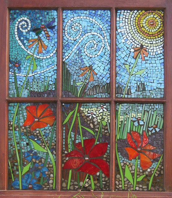 Garden View 1 Mosaics Mosaic Glass Mosaic Windows