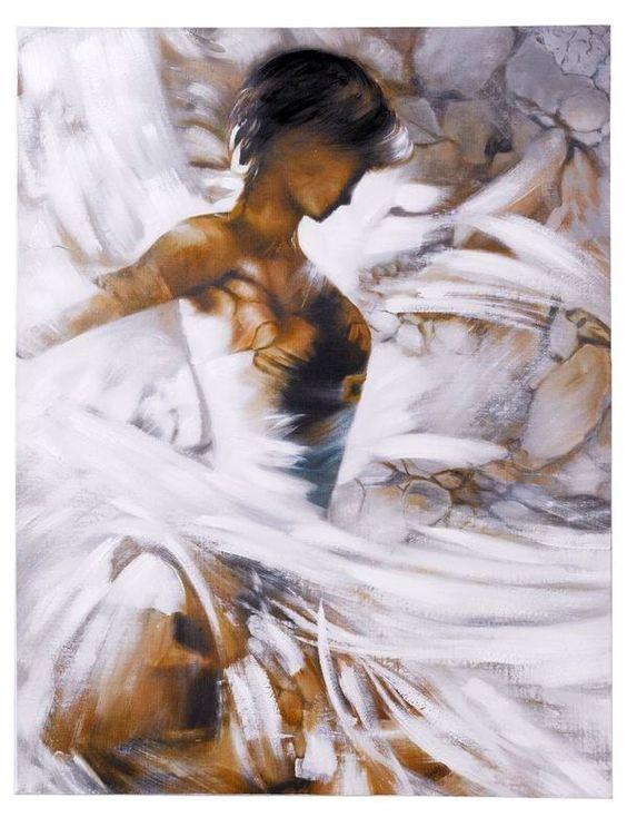 Aquarelle Peinture Danse Toile Peinture Moderne Danseuse Plus