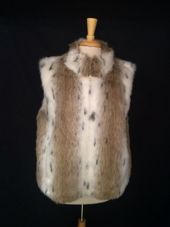 1990's Vintage faux fur reversible Vest top by JanetsVintagePlanet