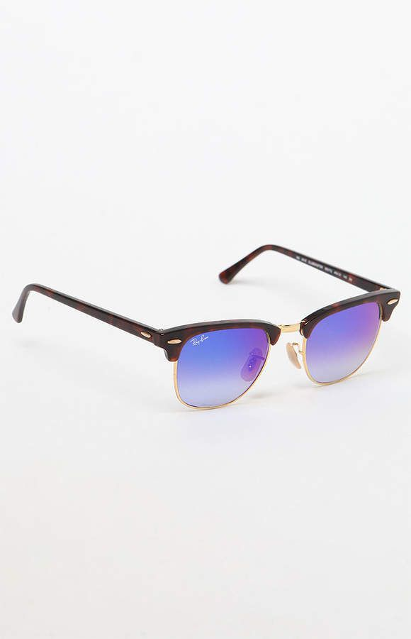 a47585ff0a Ray-Ban Clubmaster Blue Flash Sunglasses in 2018