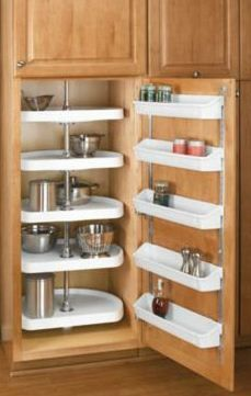 nice pantry setup could be used in corner cab too also link to rh br pinterest com