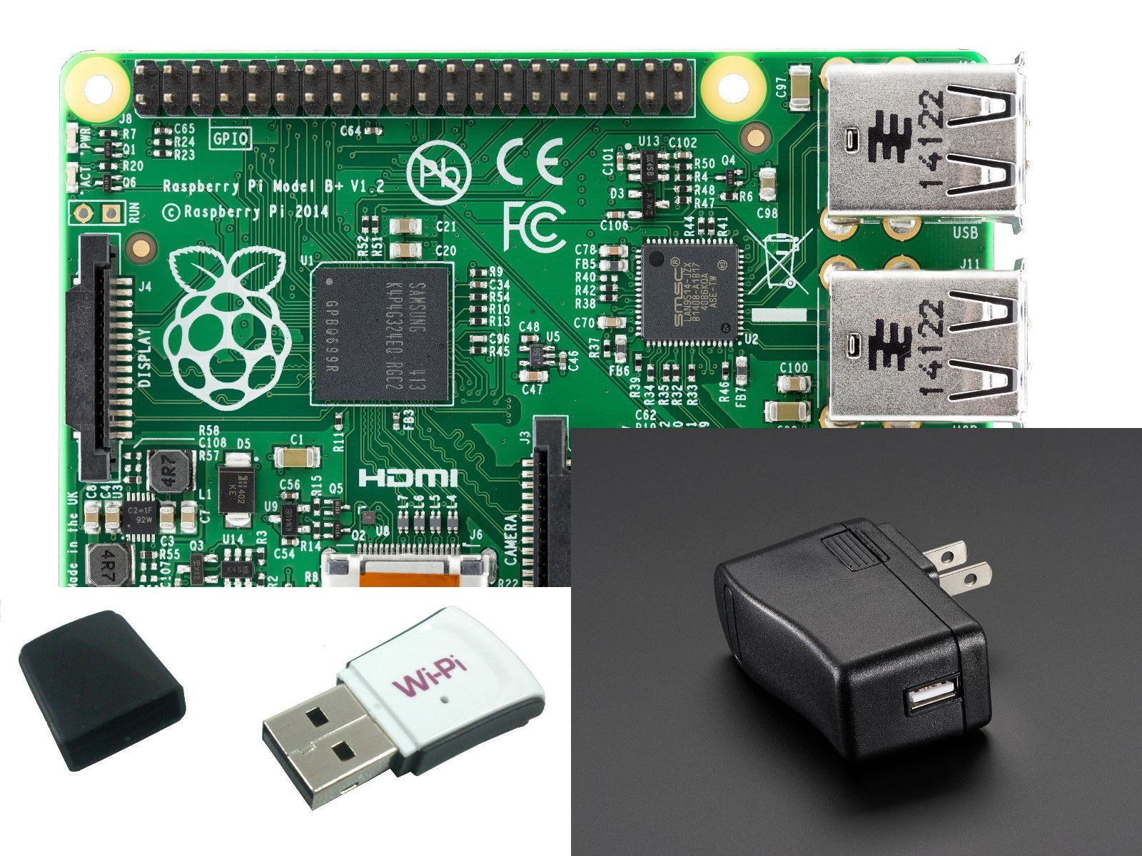 This kit ships with the Raspberry pi 3 Model B now! Wireless