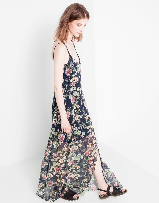 Vestido Largo Estampado Flores Vestidos Largos Estampados Vestidos Largos Vestidos
