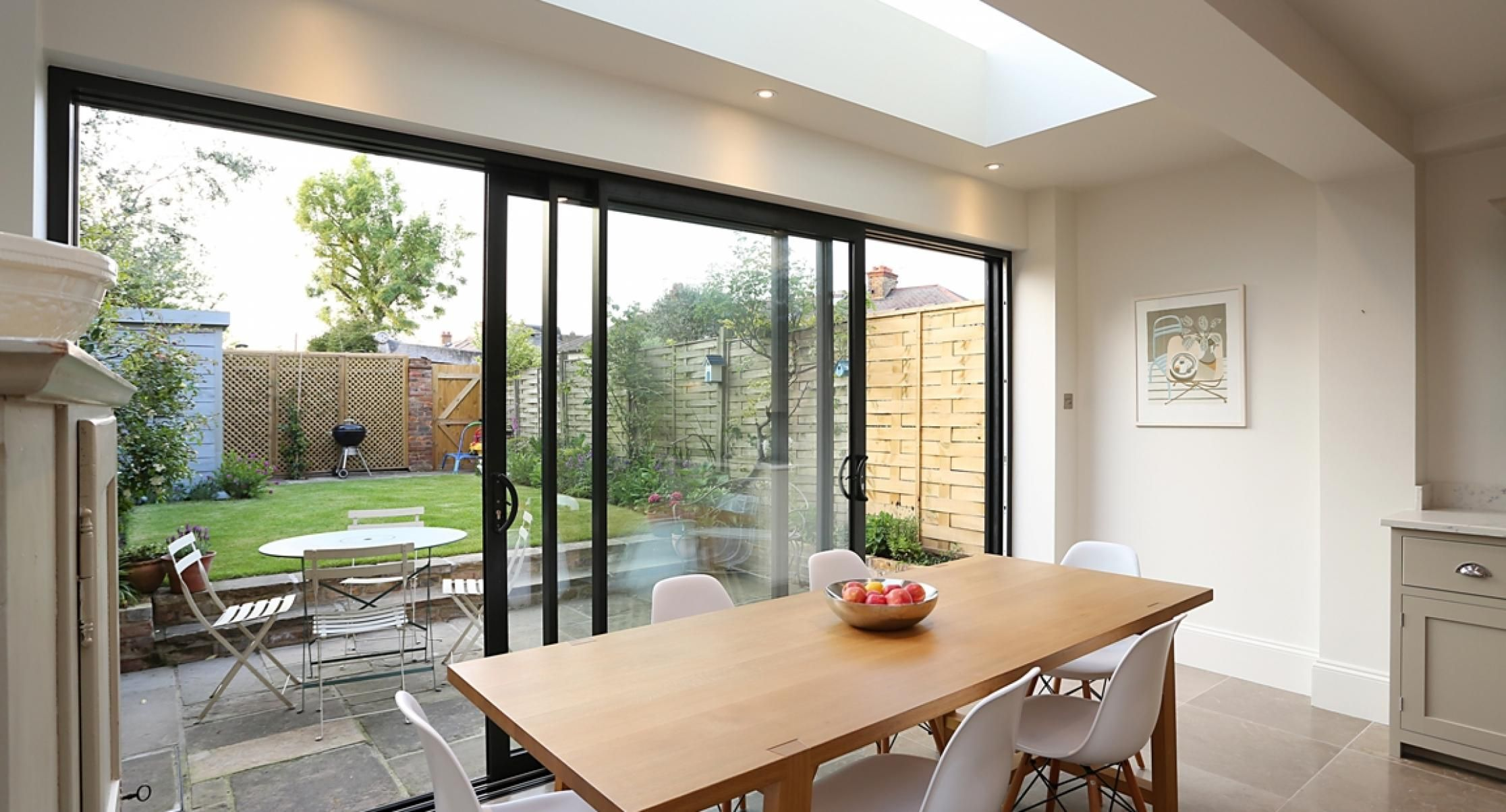 Full length skylights residential extensions by the art