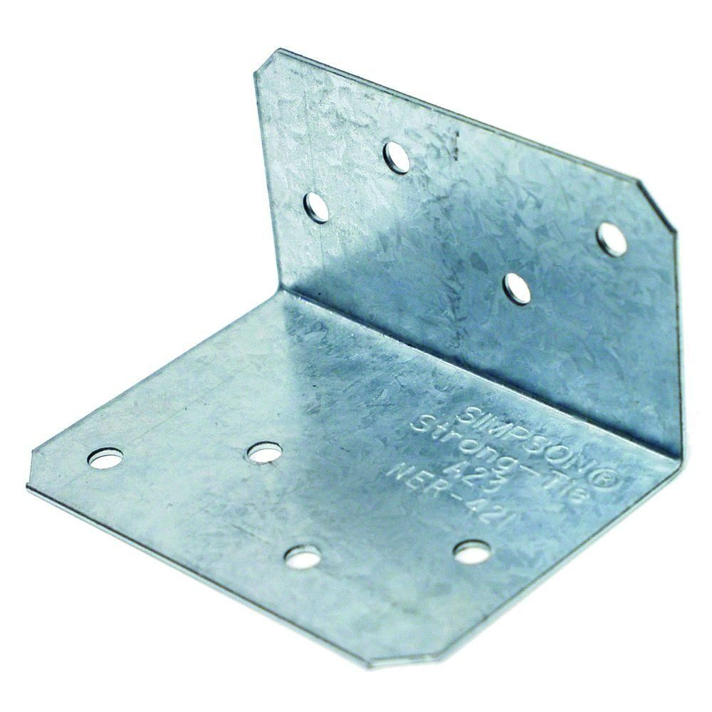 Simpson Strong Tie 2 In X 1 1 2 In X 2 3 4 In Zmax Galvanized Angle A23z The Home Depot Galvanized Steel Galvanized Steel