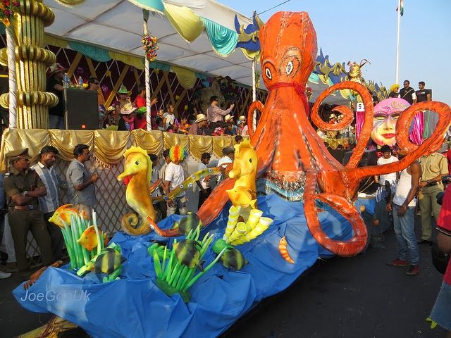 Octopus Float at carnival festival in goa